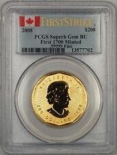 2008 Canada $200 Dollar Gold Coin PCGS Superb GEM BU *First 1700 Minted*