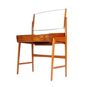 Retro Vintage Danish Teak Dressing Table Desk Dresser Mid Century 60s 70s Vanity