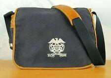 Polo '67 Ralph Lauren Navy Canvas & Leather Messenger Bag Nautical!!!