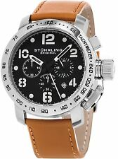 NEW Stuhrling 641 02 641.02 Monaco Tachymeter Chronograph Quartz Date Mens Watch