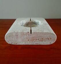 Mannelli travetine ashtray bowl enzo mari stil - Aschenbecher Schale mid century