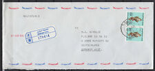 1990 UAE, R-Cover Sharjah to Germany, Birds Falcon uccelli Falco [cm784]