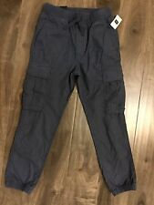 Gap Kids Boys M Regular SZ 8 Blue Cargo Pants New With Tags NWT Elastic Waist
