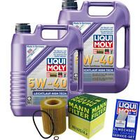 MANN-FILTER KIT CAMBIO ACEITE 10l LIQUI MOLY marcha suave HIGH TECH 5w-40