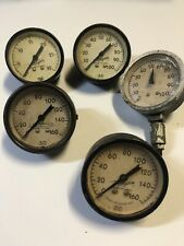 New listing Lot Of 5 Vintage Marshalltown Pressure Gauge Gauges steampunk