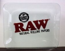 """RAW Rawthentic Glass Rolling Tray 13x11"""" Limited Edition~HUGE TRAY~NEW"""