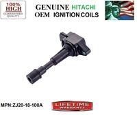 NEW SINGLE OEM Hitachi Ignition Coil for 2011-2014 Mazda 2 1.5L L4 *ZJ20-18-100A