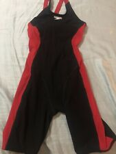 Speedo Girls' Swimsuit - Powerplus Kneeskin Red/black Size 10/26
