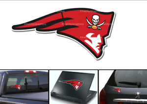 Tampa Bay Buccaneers Patriots Logo Vinyl Vehicle Car Laptop Wall Sticker Decal