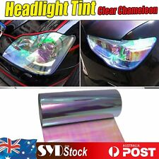 Chameleon Car Headlight Head Lamp Vinyl Tint Wrap Film 30cm x 150cm Smoke Clear