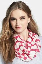 NWT! $128 kate spade new york 'abstract bow' infinity scarf pink ivory