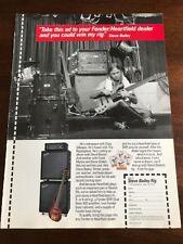 1990 VINTAGE 8X11 PRINT Ad FOR STEVE BAILEY RIG FENDER/HEARTFIELD BASS AMP