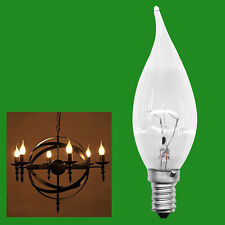 2x 40W Clear Bent Tip Candle Dimmable Light Bulb SES E14 Small Edison Screw Lamp