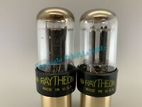 RAYTHEON 6SN7GTB BLACK PLATES HALO GETTER TUBES *PLATINUM MATCHED on AT1000*