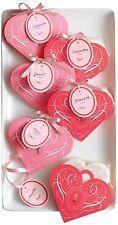Martha Stewart Crafts Valentines Day/Wedding Favor Heart Shape Treat Bags 3 Pkgs