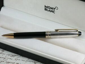 MONTBLANC MEISTERSTUCK SOLITAIRE BALLPOINT PEN CAP STERLING SILVER AG 925 + BOX