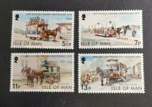Isle of Man 1976 Douglas Horse-Tram set  MUH B4