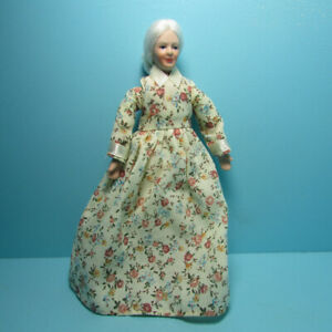 Dollhouse Miniature Poseable Country Grandma Grandparent Doll G7675