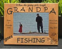 Personalized Engraved // Grandpa Fishing // Picture Frame