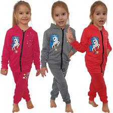 2tlg Mädchen Jogging Anzug Pony Regenbogen Sterne Best Sportanzug Sport Kinder