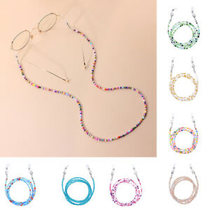 70cm Unisex Individual Fashion Lanyard Multicolor Rice Beads Chain Glasses Rope