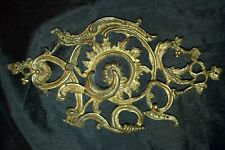 Antique Victorian Ornate Brass? Decorative Fitting Plaque Hardware Marked R