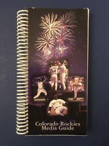 1997 Colorado Rockies Baseball Media Guide Retro Vintage Larry Walker MLB Helton