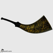 LUXURY SMOOTH HORN SMOKING PIPE KIT- MASTER SENATOROV- STUNNING FLAME FINISH