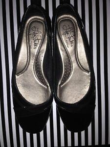 Women's Shoes Life Stride Soft System Flat Size 7 Black