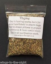 THYME Dried Magical Herb ~ Health/Healing/Sleep/Purification ~ Pagan/Witchcraft