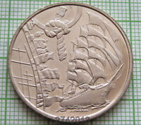 HOLLAND NETHERLANDS 2000 AMSTERDAM SAIL 5 FLORIN, SAILING SHIP & FLAGS, UNC