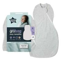 Tommee Tippee Grobag Newborn Easy Swaddle - Baby Sleeping Bag - 0-3m - Grey Marl