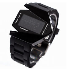New! Sport Style Multicolor LED Digital Date Alarm Lady Mens Watch Black