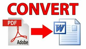 Convert PDF to Word or Image to Text