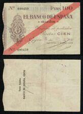 Gijón 100 Pesetas año 1936. Caja Central de Depósitos. Nº 090459. BONITO.
