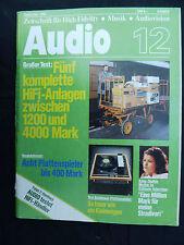 AUDIO 12/80.  MENDE 153 GW,TELEFUNKEN 127,UNION W603D,GOLDMUND T 3,SONY PS T 22,