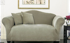 Sofa Slipcover Sure Fit Stretch Stripe Box Seat (1pc) - Sage 3-Seater 2-Seater