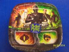 "G.I. Joe Rise of Cobra Movie Military Birthday Party Divided 9"" Dinner Plates"
