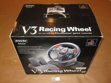 V3 Racing Wheel, Pedals for PlayStation (Interact) in Box w/Gran Turismo 1,2,3,4