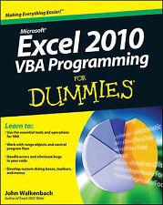 Excel VBA Programming for Dummies by John Walkenbach (Paperback, 2010) 2 edition