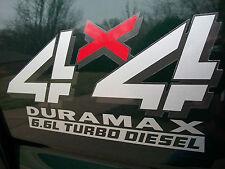 (2) 6.6L DURAMAX TURBO DIESEL BED Decals Stickers Chevy Silverado GMC Sierra HD