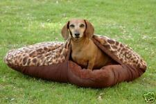 Custom dog sleeping bag bed pillow pets burrow (med)