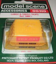 Modelscene Accessories 5088S - Large & Small Skips (00)  - Railway Models