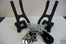 Mountain bike ATB pedal cycle toe clips & straps New