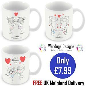 Valentines Day Mug LGBT Same Sex Personalised  Character Gift Present Gay Pride