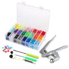 OUNONA Fastener Snap Pliers & 360pcs T5 Snap Poppers Matte Colors Buttons Kit