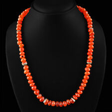 332.70 CTS NATURAL UNTREATED RICH ORANGE CARNELIAN BEADS NECKLACE - ON SALE