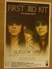 First Aid Kit - Glasgow nov.2012 tour concert gig poster