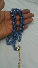 Beautiful Perini Italian murano blue foil art glass necklace