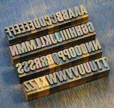 A-Z Alphabet 18mm Plakatlettern Lettern Buchstabenstempel Typo rar Buchstaben